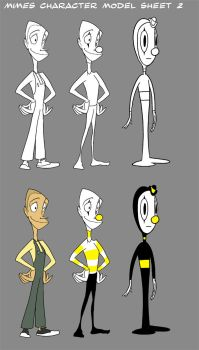 MIMES Character Model Sheet 2 by andrewk