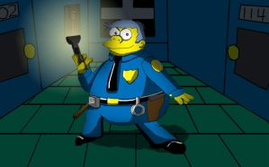 Chief Wiggum in Style by UncleLaurence