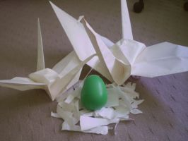 Mrs paper crane has laid an egg by Liviy22