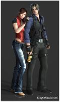 Leon and Claire by kingofshadows26