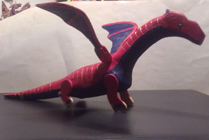 Red and Blue Dragon by eV13il