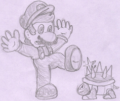 Mario spiked by Cyberguy64