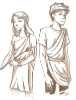 Phaedra and Ares by compoundbreadd
