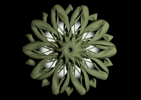 Abstract Flower Pattern by Dr-Pen