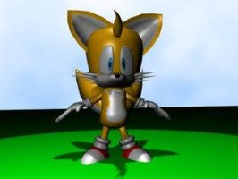 3D tails 2 - pablothefox by TailsFanclub