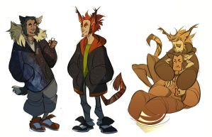 kitty cat dudes by CoconutMilkyway