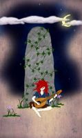 Kvothe - The Raised Stone by Lady-Smiley