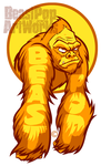 YELLOW GORILLA ARMS sticker by pop-monkey