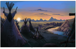 Tipi Camp by NatAsplund