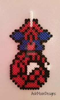 Spider-Man Perler Bead Figure by AshMoonDesigns