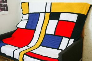 Mondrian Afghan by RainbowWish
