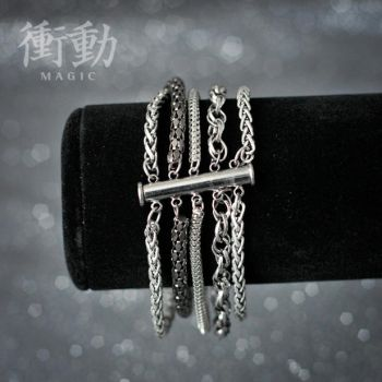 Five Chain Magnet Lock Bracelet by shoudoumagic