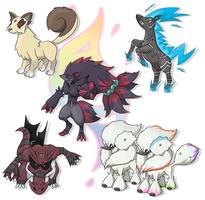 Mega evolutions - group no. 4 by Xyrten