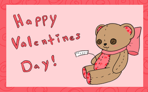 Teddy Bear Valentine by Tinypaperdresses