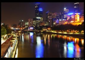Melbourne City Yarra by DanielleMiner