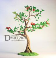 "Beaded Tree ""Ruby"" by BeadedDruid"
