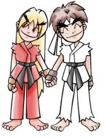 Ken and Ryu 2002 by thweatted