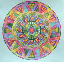 City Mandala Coloured by Lou-in-Canada