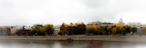 moscow. embankment. high key by moitisse