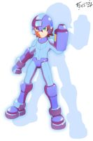 Mega Man Model M Redrawn by Shoutaro-Saito
