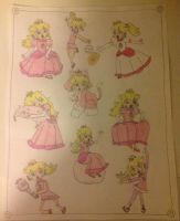 My Princess Peach drawings 3 by Prince5s