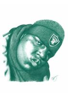 Notorious BIG Pencil Sketch by DJMark563