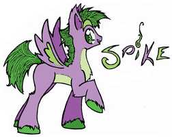 Spike as a Pony by HoloSnipe