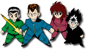 Yu Yu Hakusho Gang by Kuroichigo-the-lilty