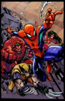 COLOR: avenging spiderman by dymartgd-Place by Tadpole7