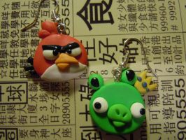 Angry Birds earrings by Akarami