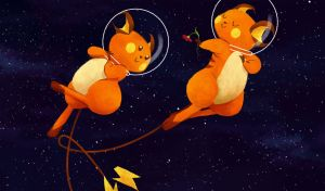 Raichu ... IN SPACE by It-is-a-circle