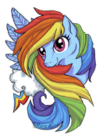 Rainbow Dash T-shirt print Contest by Kattvalk