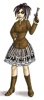 steampunk girl by thecosmicfool