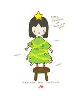 christmas tree by pippipop
