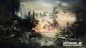 Attack Helicopter and Tank Explosion by Ko-Clan