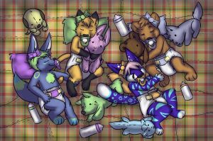 Cub Sleepover by Sanchi-Sunpelt