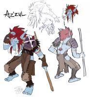 Az'zul character sheet by pseudobiotic