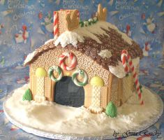 X-mas house by ginas-cakes