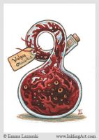ACEO: Bottled Eye-Mass by emla
