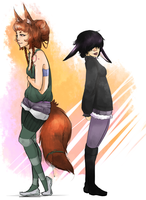 Collab - The Bunny and Fox by Hostiled