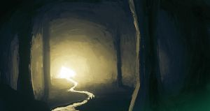 Cave view by Imrooniel