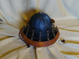 Leather Kabuto by Bear-Crafter