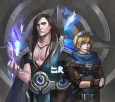 Taric and Ezreal by haonguyenly