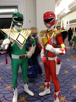 Green And Red Rangers by StealthNinja5