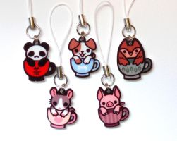 Teacup Animal Charms by pookat