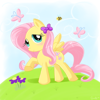 Fluttershy by Domestic-hedgehog