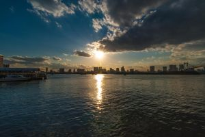 View from Odaiba by Chrysomela