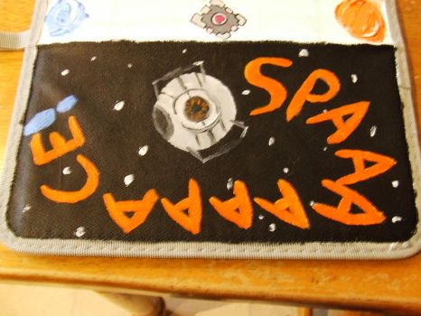 SPAAAACE! (Portal Themed Pencil Case) by EgotisticalRaven