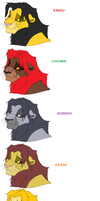 My Lion King 3 Lions by wolf749