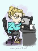 Tired Cartoonist by JoieArt